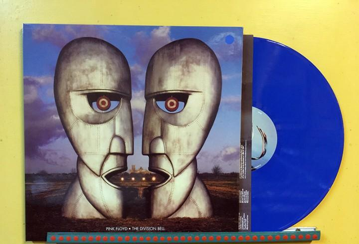 Pink floyd lp the division bell vinilo color azul muy raro