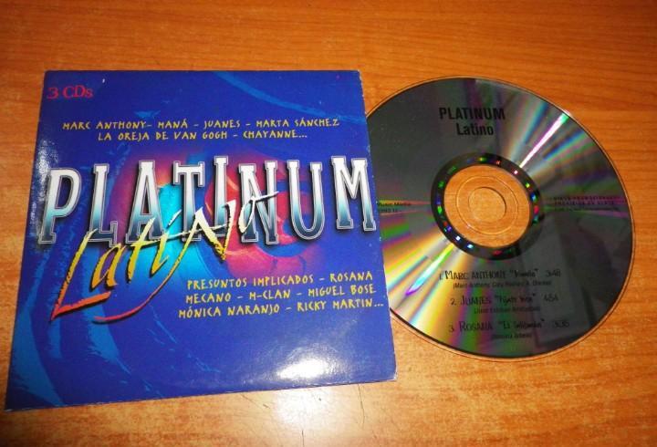 Platinum latino cd maxi single promo carton 2002 marc