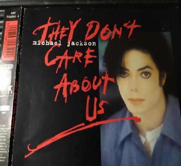 Portada caratula single michael jackson they don,t care