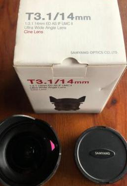 Samyang 14mm (f2.8) objetivo montura e sony