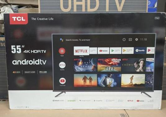 "Tv tcl 55"" 4k uhd hdr android tv nueva"