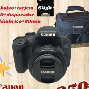 Camara reflex canon 750d