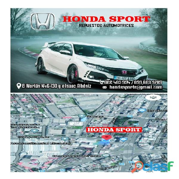 Honda sport repuestos y accesorios automotrices