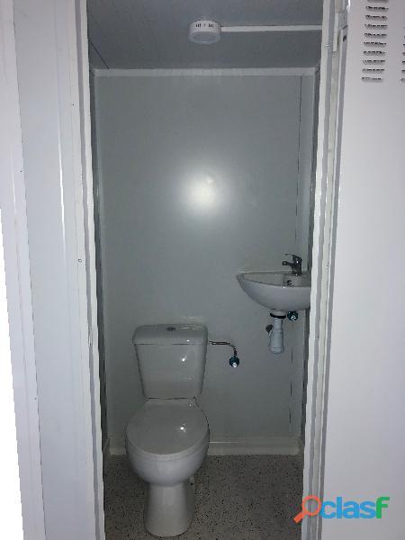 Módulo sanitario 1 x 1,1 m con lavabo , inodoro 3