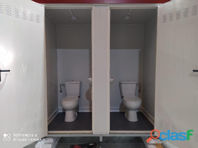 Módulo sanitario de 2x1 m con dos baños independientes. 3