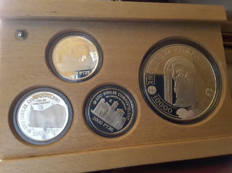 Estuche monedas plata año jubilar 1999