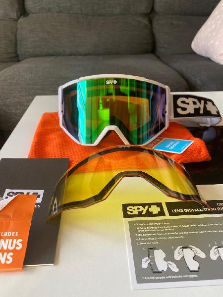 Gafas de ventisca spy nuevas (2 lentes)