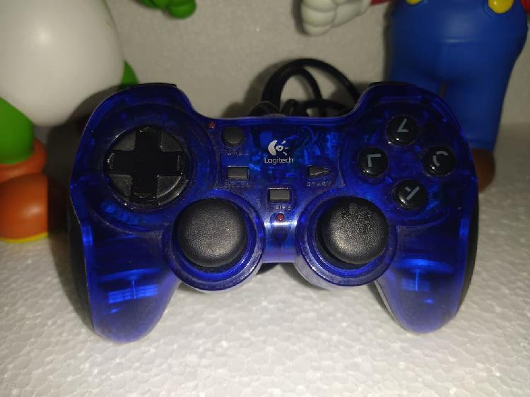 Mando ps2 azul transparente logitech