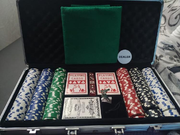 Maletín aluminio poker