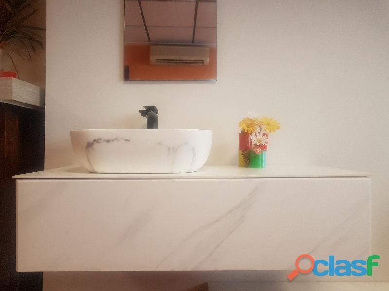 Mueble porcelanico baño diseño