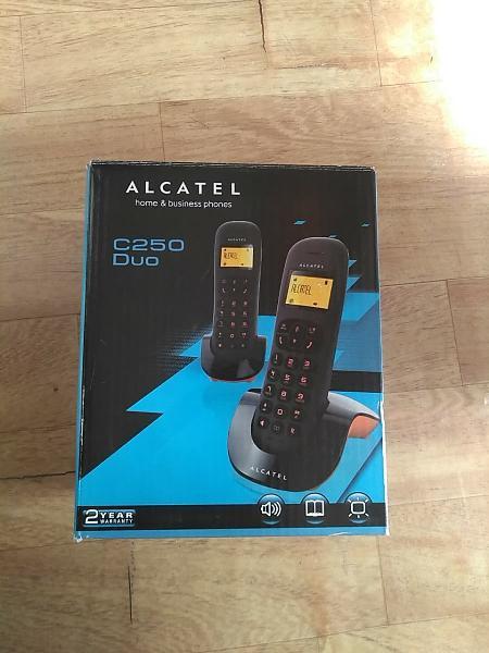 Teléfono fijo duo alcatel