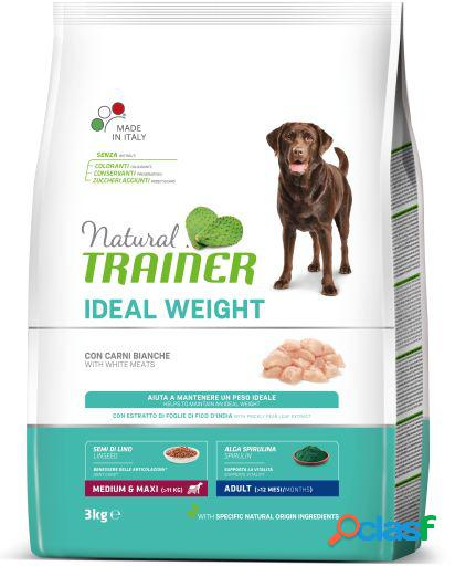 Trainer natural dog ideal weight medium&maxi adult con carne blanca