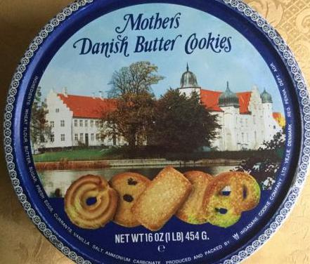 Caja lata año 86 galletas danesas mother