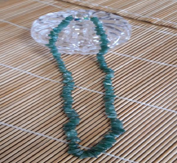 Collar agata verde 24 cm