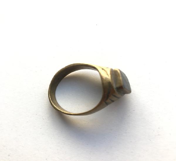 Envío 8€. anillo de cobre con cristal. 2,4 cm de