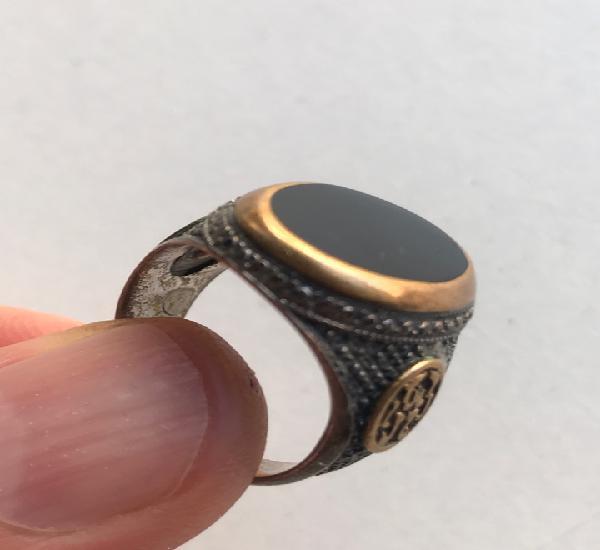 Envío 8€. anillo de plata o similar con onix y toques de