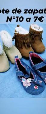 Lote de zapatillas bebe (niña)