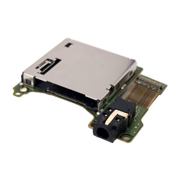 Placa auxiliar con slot y conector de audio jack switch