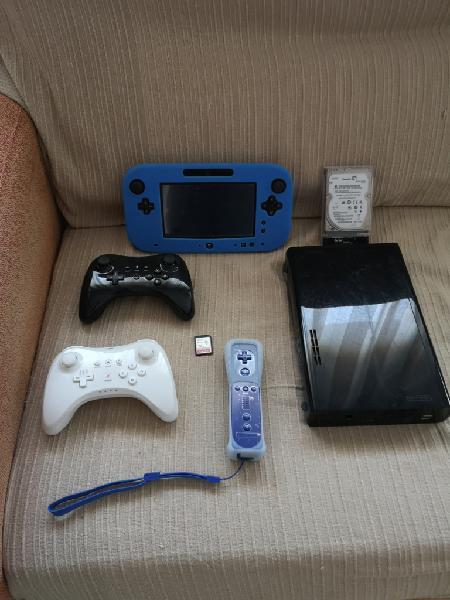 Wiiu 32 gb en garantia, 2 mandos pro, disco duro 320 gb