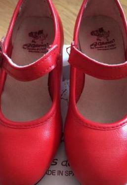 Zapatos flamenco rojos niña n 25