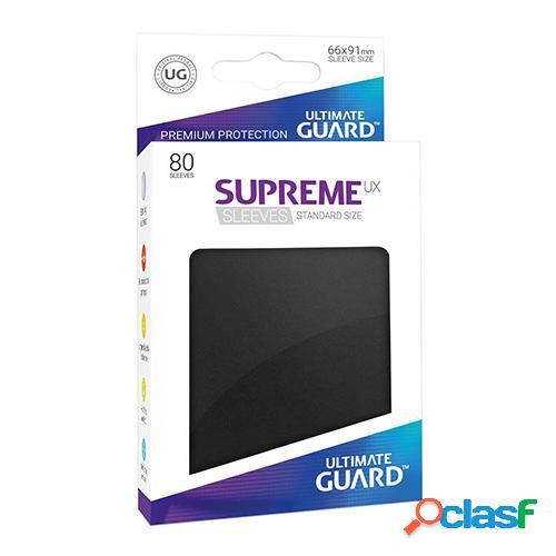 Ultimate guard supreme ux sleeves fundas de cartas tamaño estándar negro (80)