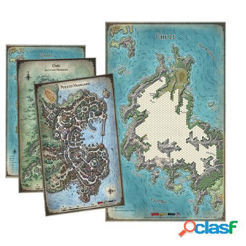 Dungeons & dragons - set de mapas de la tumba de la aniquilación