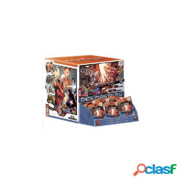 Dice masters marvel civil war caja de sobres (90) (español-italiano)