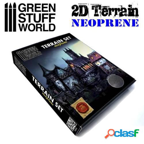 Set escenografía neopreno / neoprene terrain set- 22 piezas