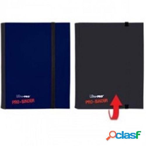 Pro binder back flip 4 bolsillos ultra pro color azul