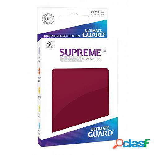 Ultimate guard supreme ux sleeves fundas de cartas tamaño estándar borgoña (80)