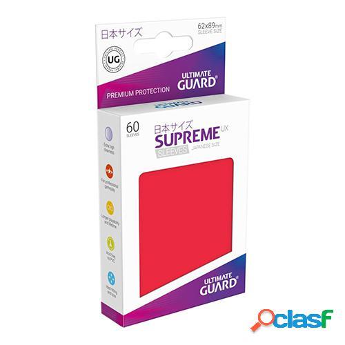 Ultimate guard supreme ux sleeves fundas de cartas tamaño japonés rojo (60)