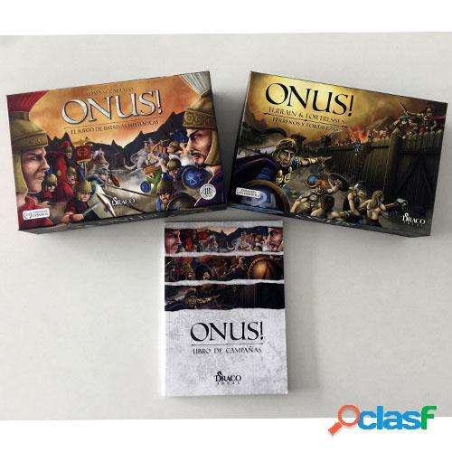 Onus + expansión de griegos y persas + expansión de terrenos y fortalezas + libro de campañas - segunda mano