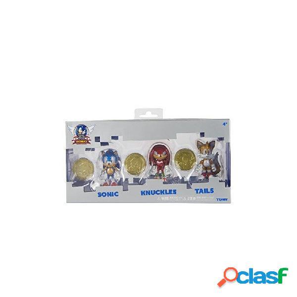 Figura pack de 3 sonic + moneda