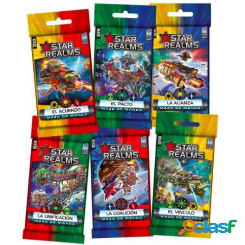 Star realms - mazos de mando (pack 6 sobres)