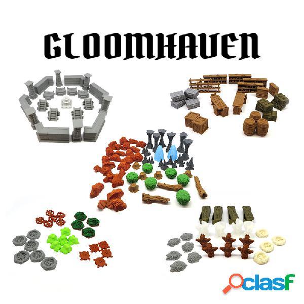 Pack completo de escenografía para gloomhaven - 139 piezas