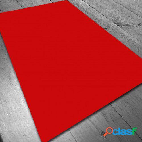 Tapete de neopreno - rojo liso 140 x 80