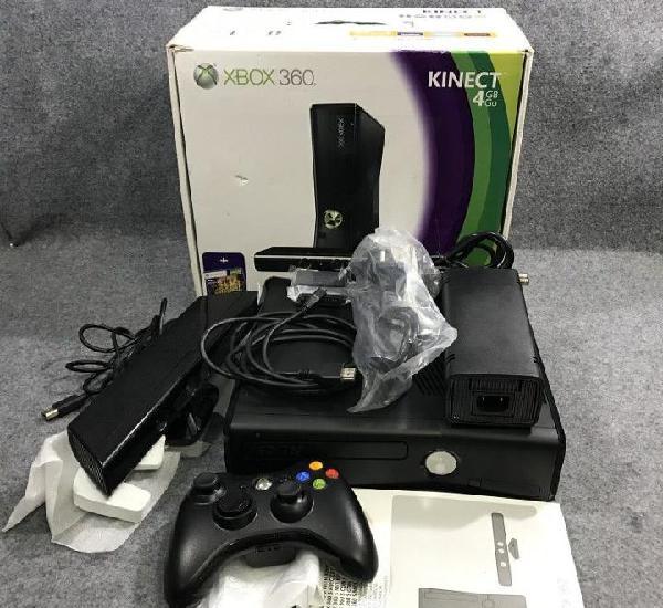 Consola microsoft xbox 360 4gb+kinect con caja