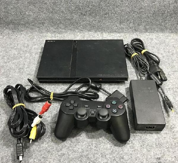 Consola sony pstwo+mando+av+ac ps2 playstation 2 slim