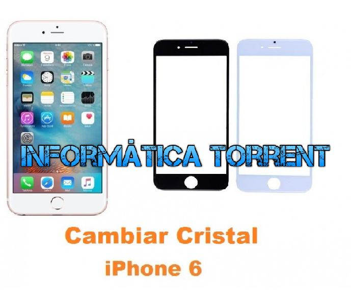 Cambiar cristal iphone 6
