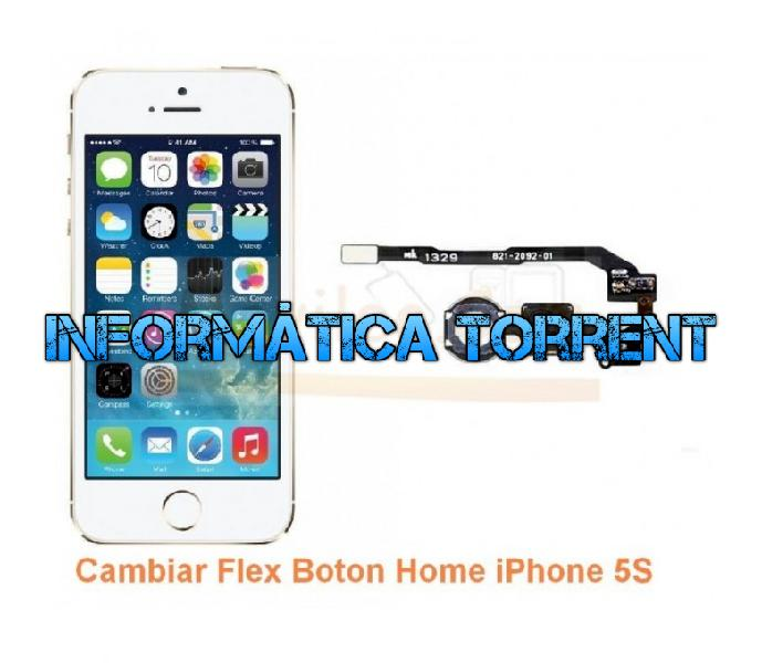 Cambiar flex boton home iphone 5s