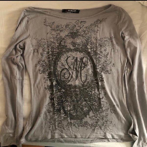 Camiseta gris con dibujo morgan.nueva a estrenar