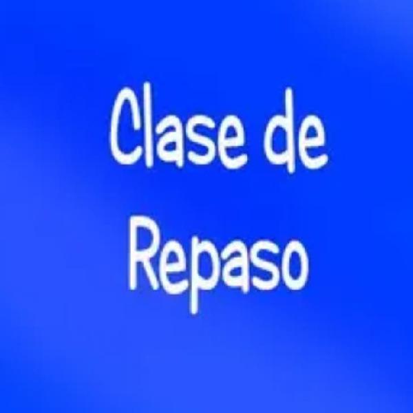 Clases de repaso/refuerzo