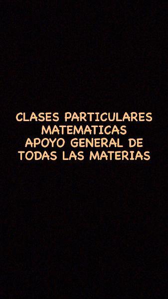 Clases particulares de matemáticas y apoyo general