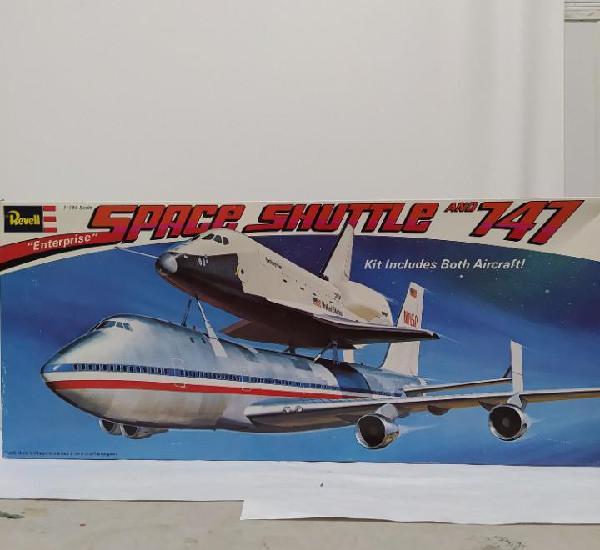 Enterprise space shuttle and 747 revell 1/144. sin abrir