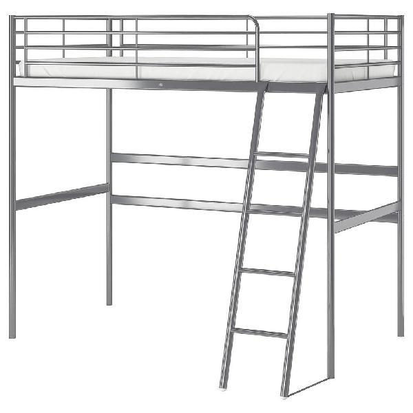 Estructura de cama alta tromso, svarta de ikea 90
