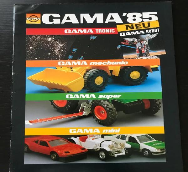 Gama 1985 - catalogo juguetes modelos mechanic super mini