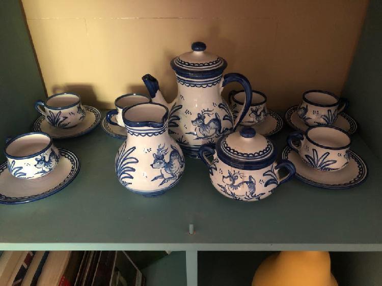 Juego de café cerámica talavera