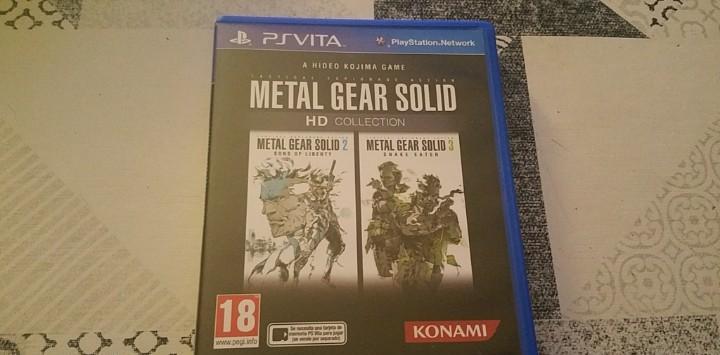 Metal gear solid 2 y 3 hd collection ps vita pal españa