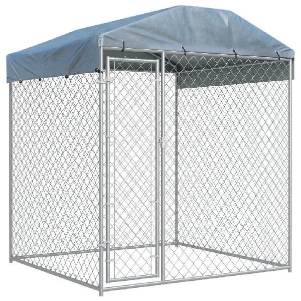 Perrera para exterior con toldo 2x2x2,1 m