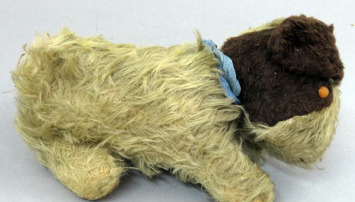 Perro peluche relleno goma espuma años 40 - 50